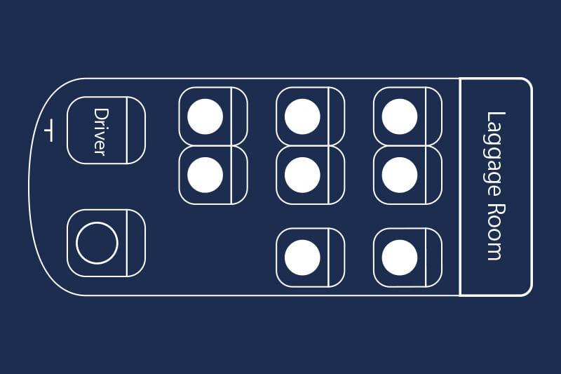 図:ハイエース 座席図
