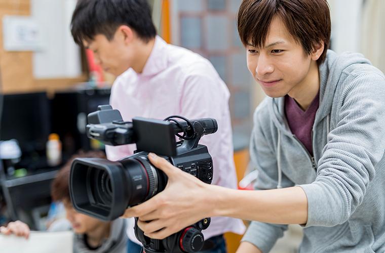 画像:テレビカメラ撮影機材
