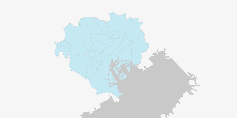 地図イラスト:対応エリア
